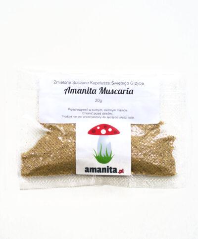 Amanita Muscaria zmielona suszone kapelusze muchomorów 20g